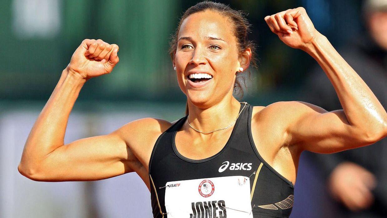 Lolo Jones i løbedragt.