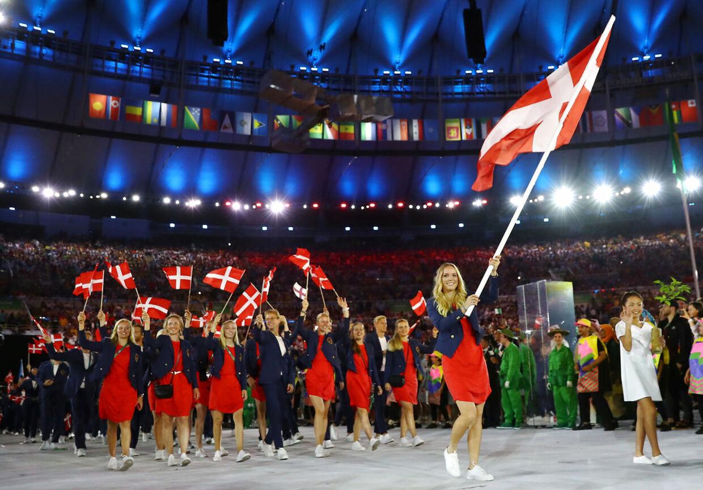Caroline Wozniacki var fanebærer for det danske OL-hold i Rio de Janeiro 2016.