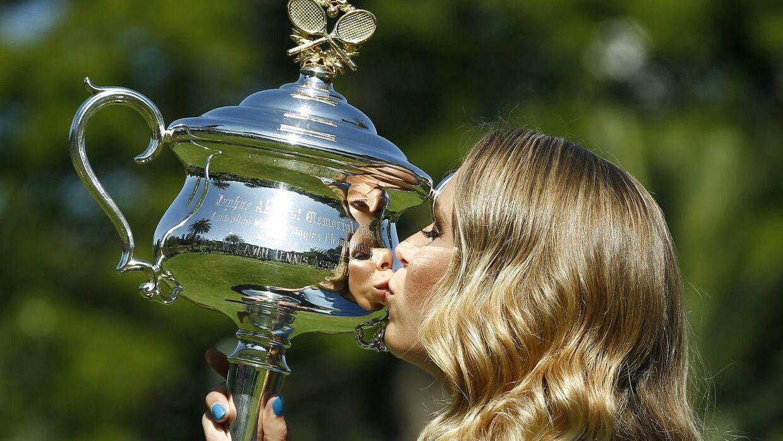 Caroline Wozniacki vandt Australian Open i 2018.
