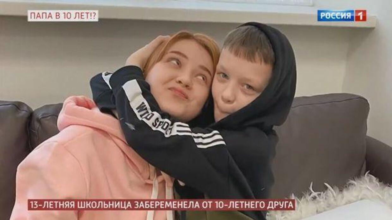 Her ses Daria og Ivan, der tilsyneladende venter barn sammen.