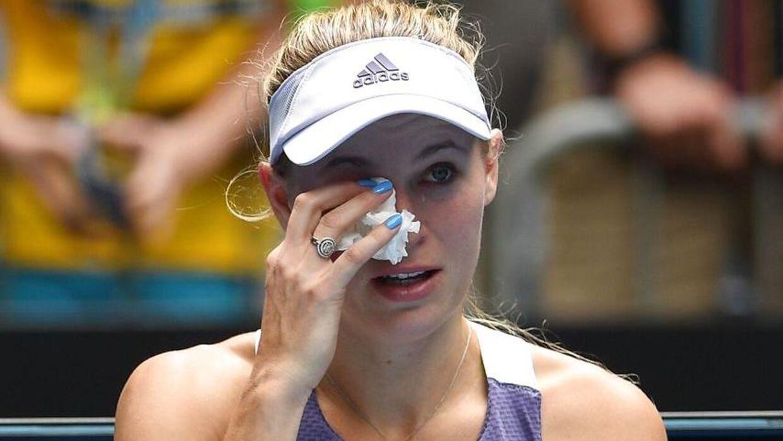 Caroline Wozniacki efter sit nederlag.