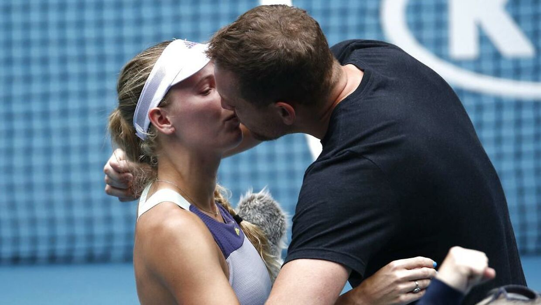 Caroline Wozniacki og manden David Lee.