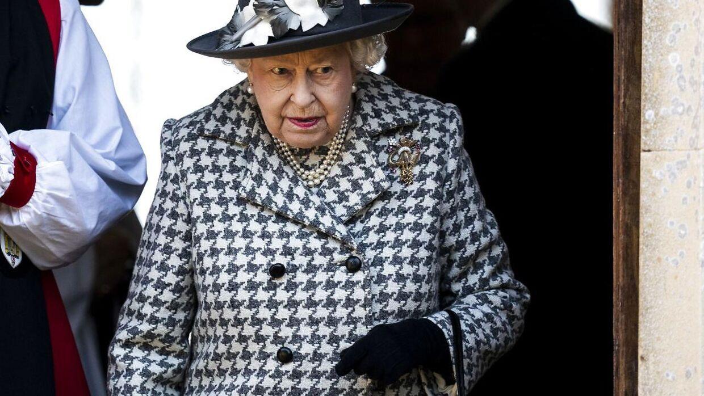 Dronning Elizabeth var til gudstjeneste i St. Mary the Virgin church i Hillington, Norfolk, tidligere på ugen. (Foto: Scanpix)