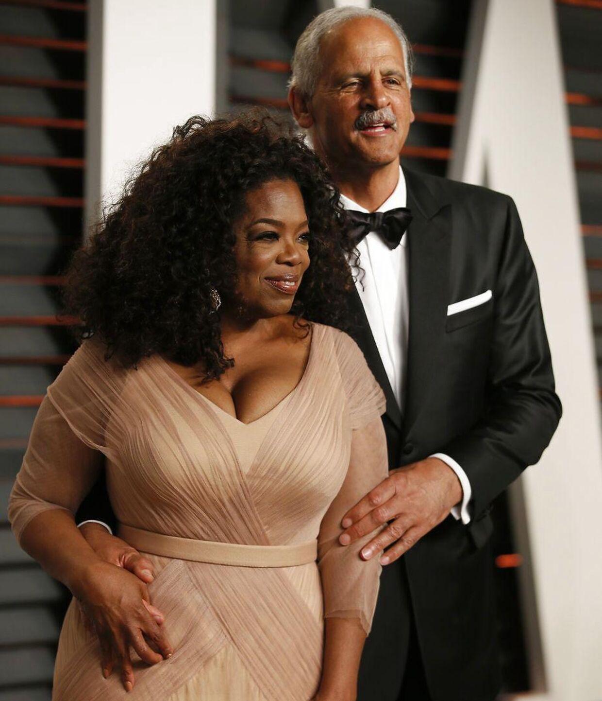 ARKIVFOTO af Oprah Winfrey og Stedman Graham.