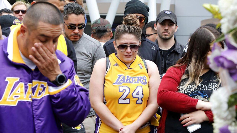Sørgende fans i Los Angeles.