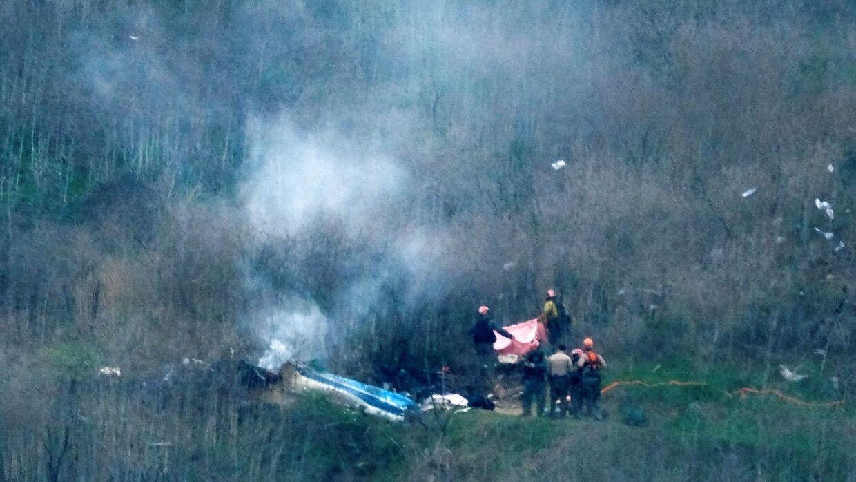 Helikopteren styrtede ned i Calabasas.