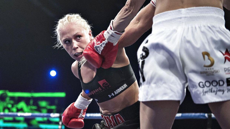 Dina Thorslund håber, at rivalen Sarah Mahfoud vinder sin VM-kamp lørdag mod Brenda Carabajal. (foto: Henning Bagger / Scanpix 2016)