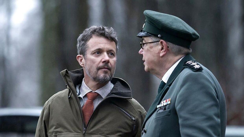 Kronprins Frederik var tirsdag på jagt i Gribskov.