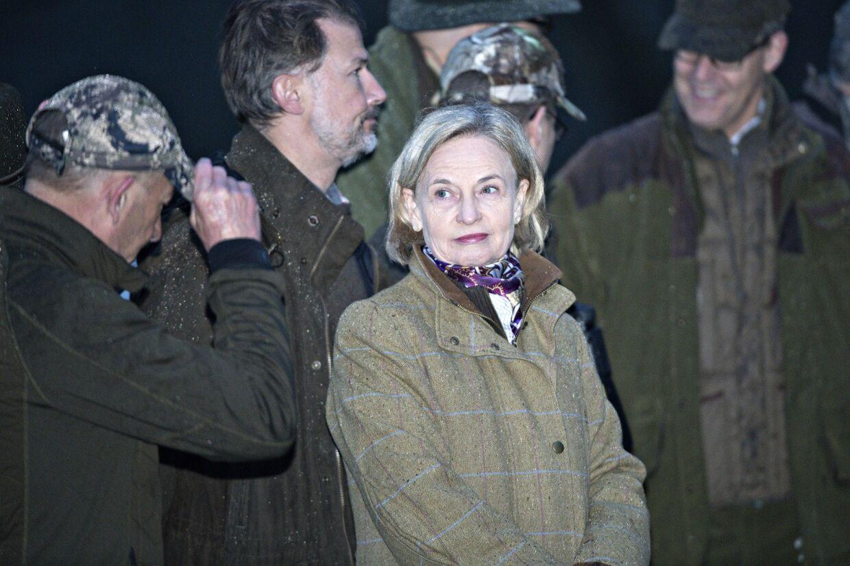 Birgit W. Nørgaard var en af de to kvinder, der deltog i jagten.