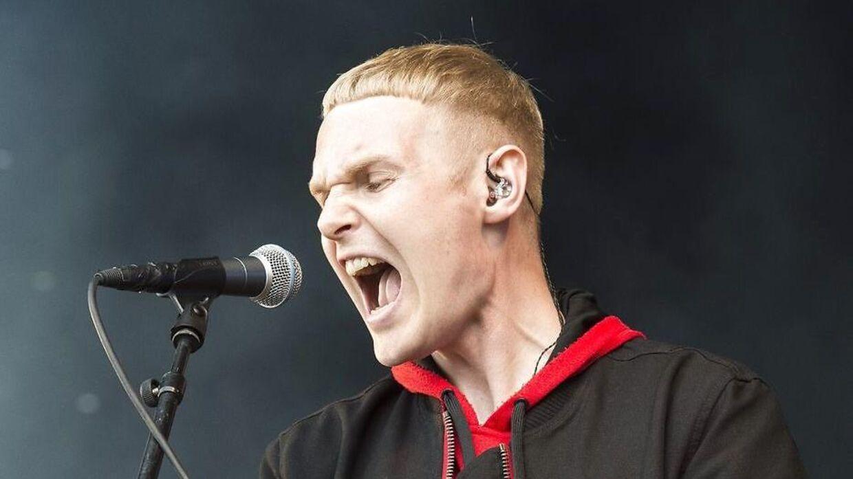 Niels Brandt under en koncert på Northside Festival.