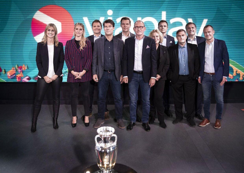 Streamingtjenesten Viaplay holder pressemøde med værter og fodboldeksperter om dækning af EURO 2020.