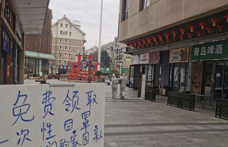 Tomme gader i Wuhan.