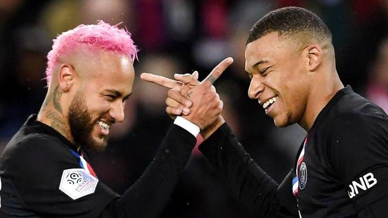 Kylian Mbappé og Neymar.