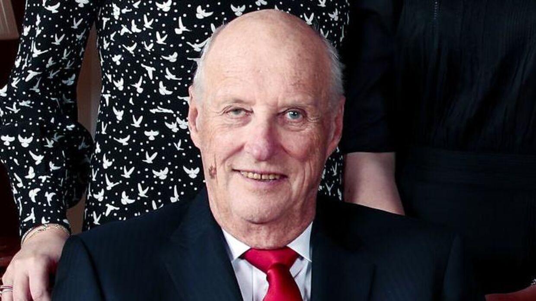 Kong Harald er her fotograferet i forbindelse med julen 2019.