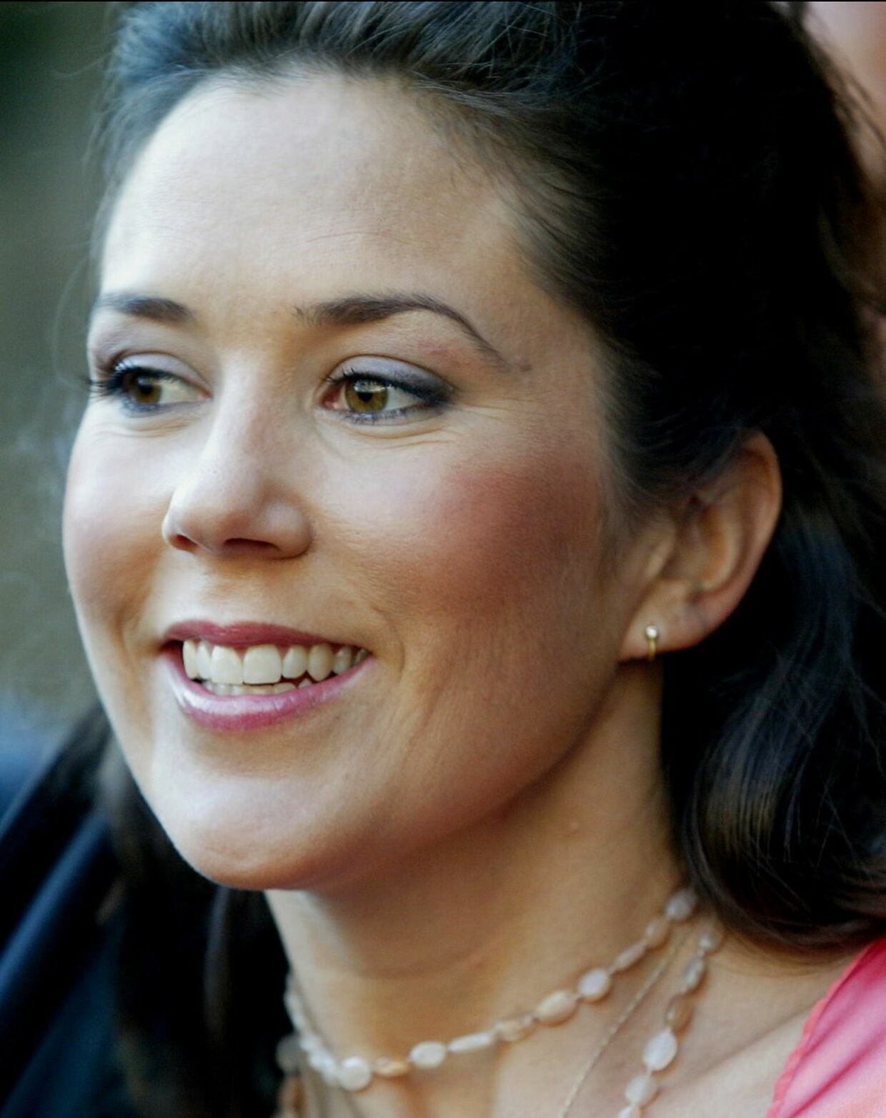 Sådan så hun ud, da hun i sommeren 2002 stadig hed Mary Donaldson og skulle til bryllup i Frederiksborg Slotskirke.