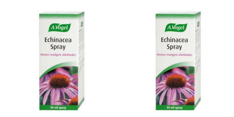 A. Vogel Echinacea Spray renser slimhinderne og hjælper mod forkølelse.