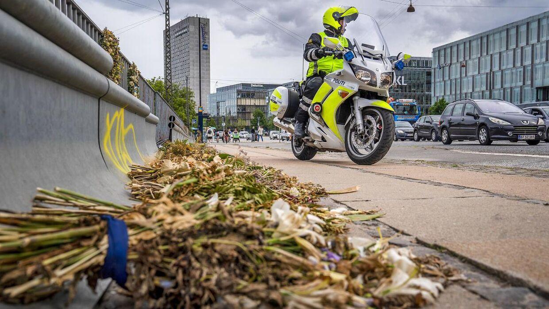 Henrik Schmeisser, politiassistent, Københavns Færdselspoliti på Langebro, hvor en af hans kollegaer mistede livet pga en vanvidsbilist. Biler, der benyttes til vanvidskørsel, skal beslaglægges og sælges ifølge et nyt udspil fra regeringen. Det skriver Ritzau, onsdag den 5. februar 2020.. (Foto: Søren Bidstrup/Ritzau Scanpix)