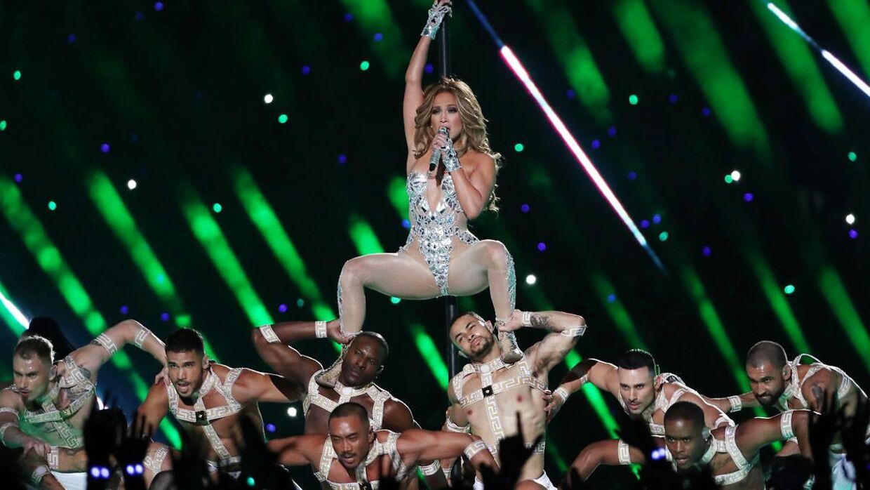 Jennifer Lopez under årets half-time-show.