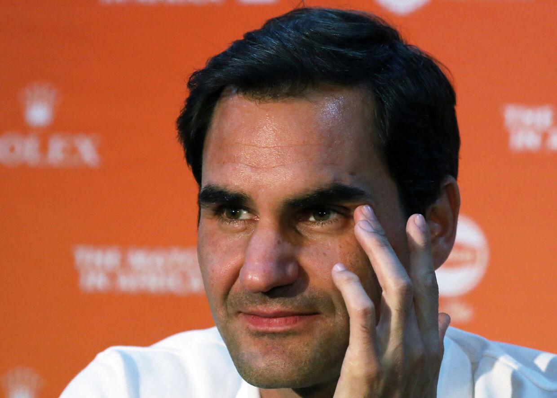 Roger Federer stillede forleden op ved et pressemøde i Sydafrika forud en opvisningskamp mod Rafael Nadal.