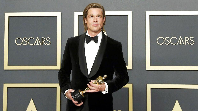 Brad Pitt med sin Oscar.
