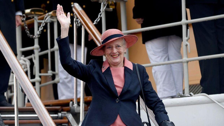Dronning Margrethe, da hun sidste efterår besøgte Flensborg.