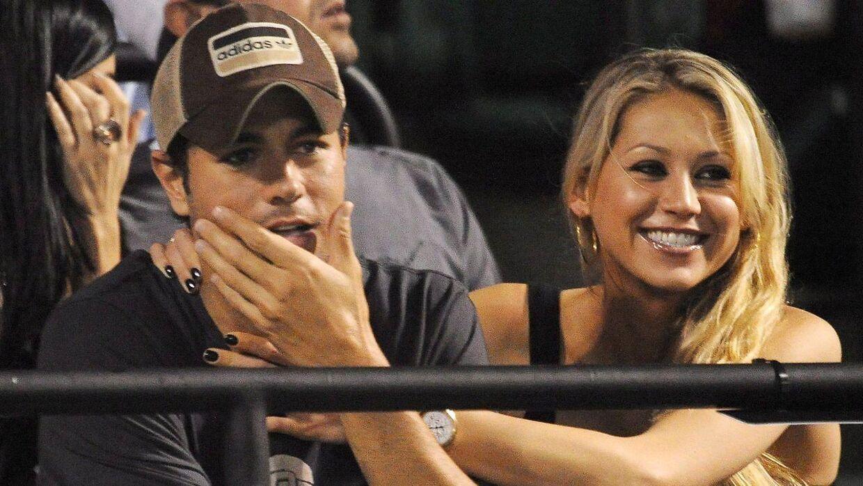 Enrique Iglesias og hans kæreste Anna Kournikova.