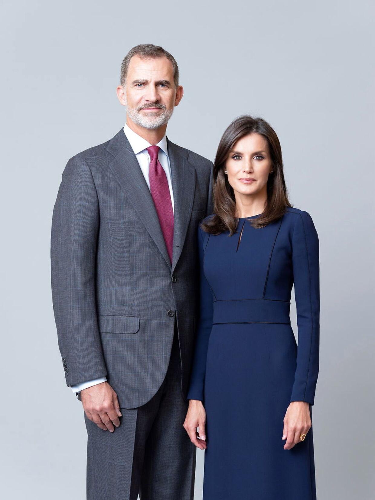 Dronning Letizia og kong Felipe af Spanien.