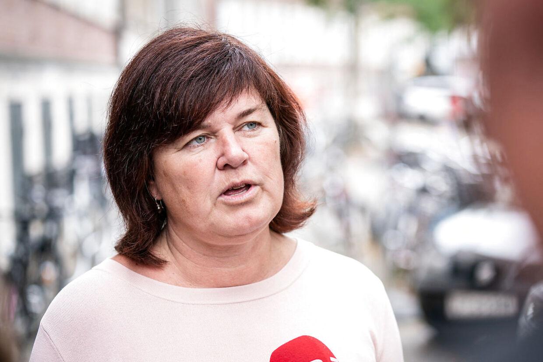 Karina Lorentzen Dehnhardt (SF) ankommer til de røde partiers møde om Støjberg-kommission i Justitsministeriet i København, fredag den 6. september 2019. (Foto: Niels Christian Vilmann/Ritzau Scanpix)