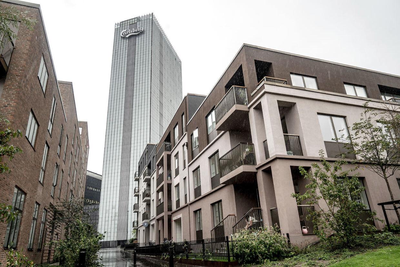 Carlsberg Byen er under fuld udvikling, og den ventes at stå klar 2024. Det ikoniske Carslberg-tårn i baggrunden er dog ikke en del af den samlede plan for området, og til sommer skal den rives ned.