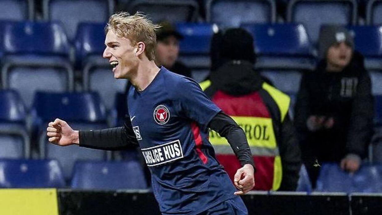Gustav Isaksen var med, da FC Midtjyllands U19-hold spillede sig videre i Youth League.