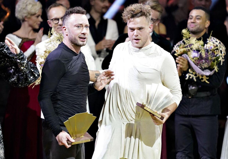 """Jakob Fauerby og Silas Holst vinder finalen i """"Vild med dans"""" i Forum Horsens, fredag den 28. november 2019."""
