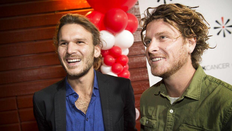 De to brødre Emil Midé Erichsen (tv) og Theis Midé Erichsen (th).