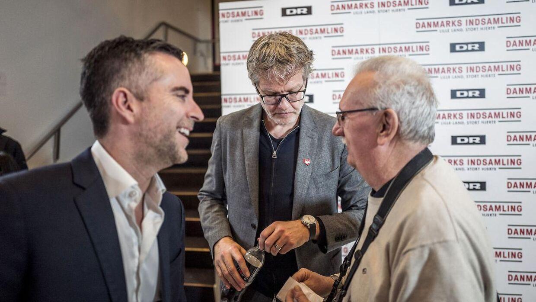 Jan Lehrmann og Jacob Risgaard, som investerede i Mr.Beef.dk, ses her ved 'Danmarksindsamlingen 2020'.