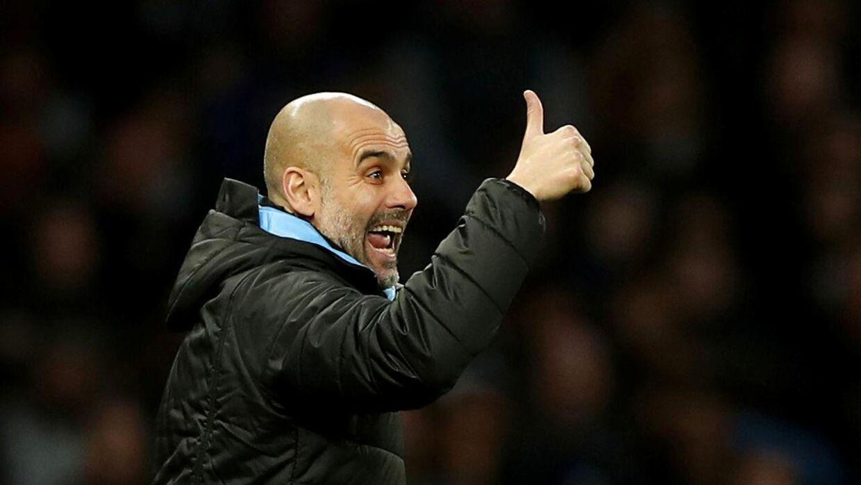 Pep Guardiola har trænet Manchester City siden 2016.