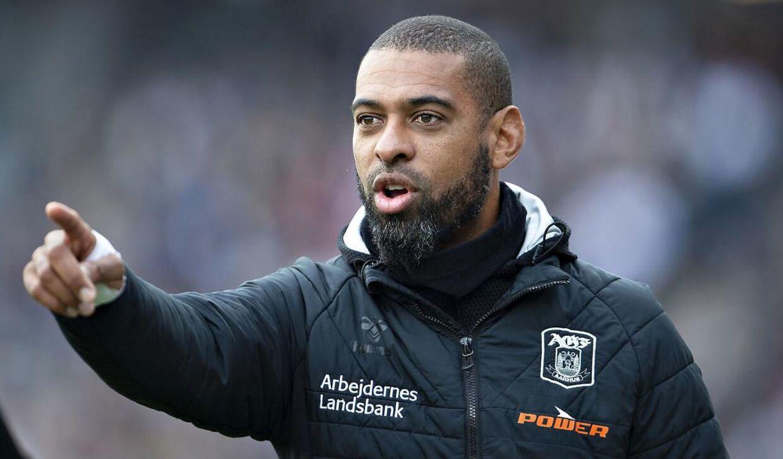 AGF's cheftræner, David Nielsen.