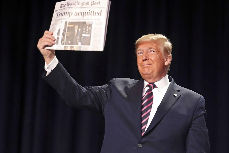 Her jubler Donald Trump over sin egen frifindelse. Nu starter hævntogtet.