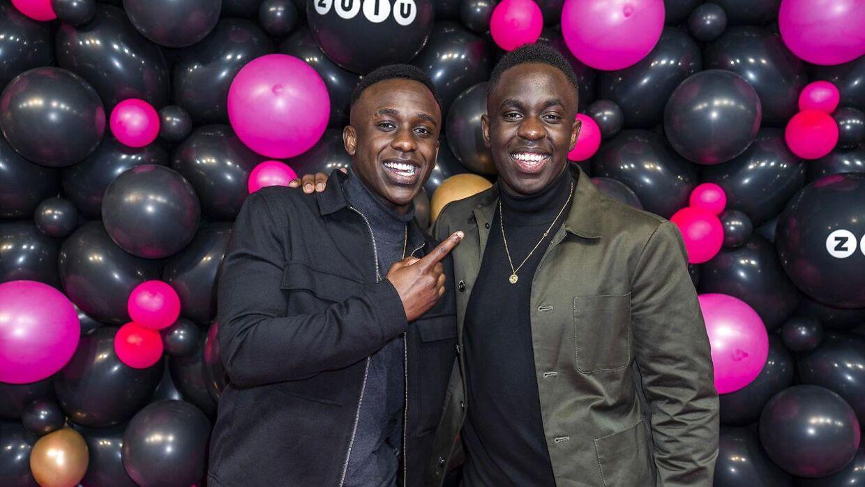Melvin (th) med sin bror til Zulu Awards.