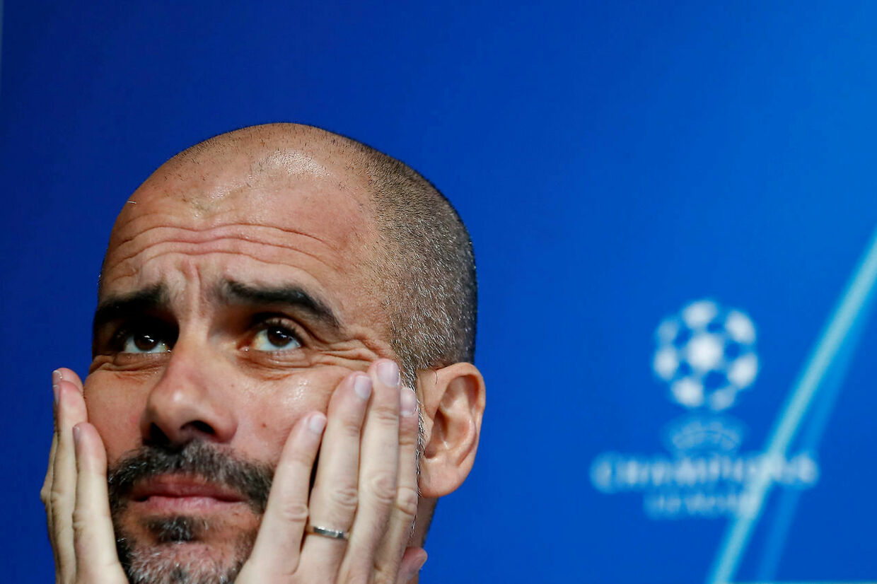 FILE PHOTO: Soccer Football - Champions League - Manchester City Press Conference - Etihad Campus, Manchester, Britain - April 16, 2019 Manchester City manager Pep Guardiola during the press conference Action Images via Reuters/Jason Cairnduff/File Photo