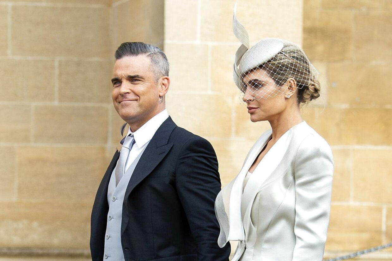 Robbie Williams og Ayda Field var gæster ved prinsesse Eugenies bryllup i 2018.
