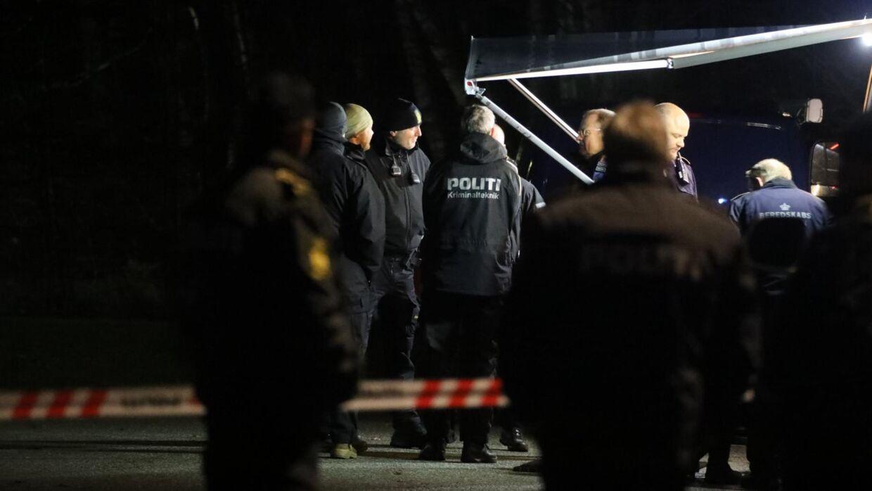 Politiet er massivt til stede i Hillerød.
