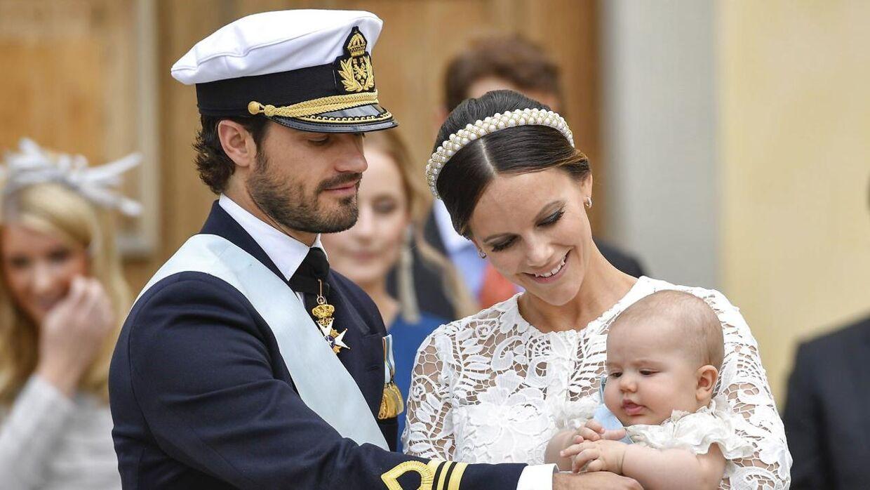 Prins Carl Philip og Sofia Hellqvists første søn, prins Alexander, blev døbt i 2016.