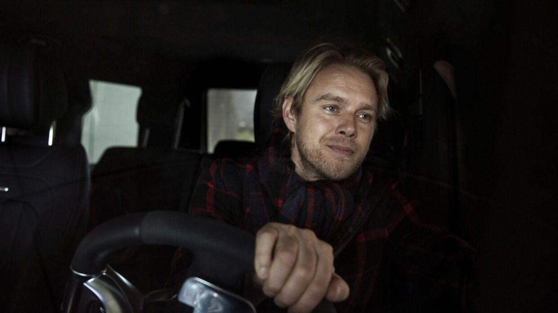 Arkivfoto af Felix Smith i sin egen bil.