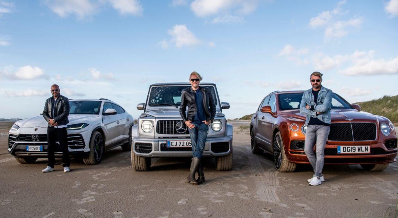 Her ses de tre værter Dar Salim, Felix Smith og Jesper Carlsen.