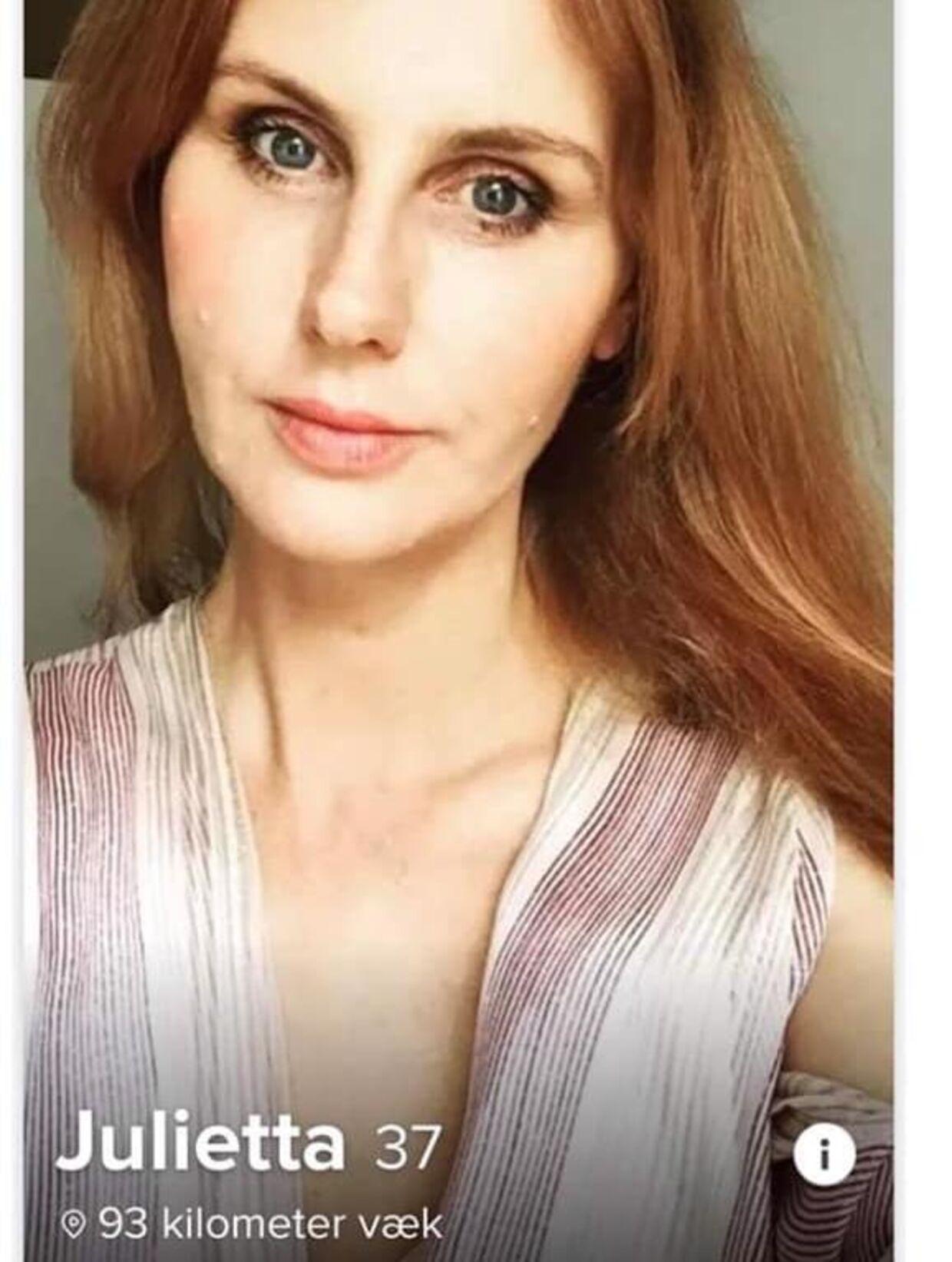 Her ses det billede, som Sanne Gottlieb har fået stjålet.