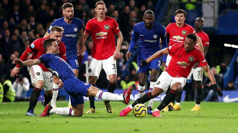 Manchester United vandt mandag aften med 2-0 mod Chelsea på udebane.