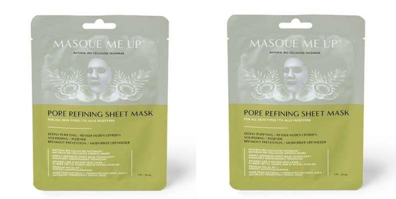 Rens din hud i ansigtet med Masque me up ansigtsmaske