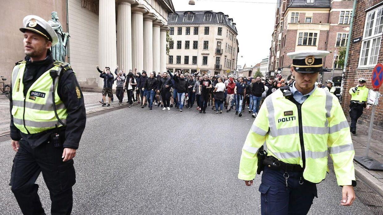 Sådan så det ud, da Røde Stjerne-fans gæstede København inden Champions League-kampen mod FC København i august 2019.
