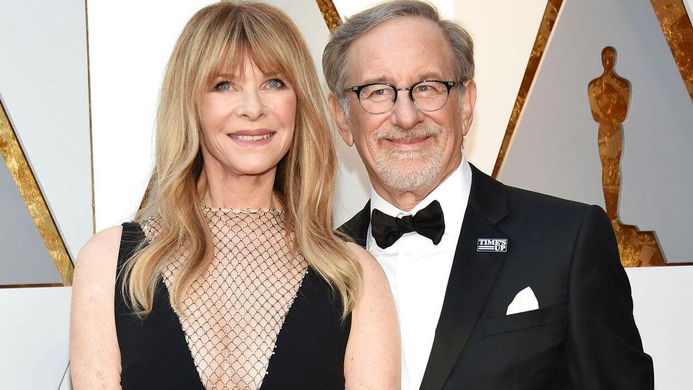 Steven Spielberg med sin kone, Kate Capshaw.