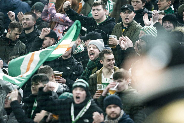 Celtic-fans før Europa League 1/16-finale mellem FC København og Celtic FC, i Parken i København torsdag den 20. februar 2020.