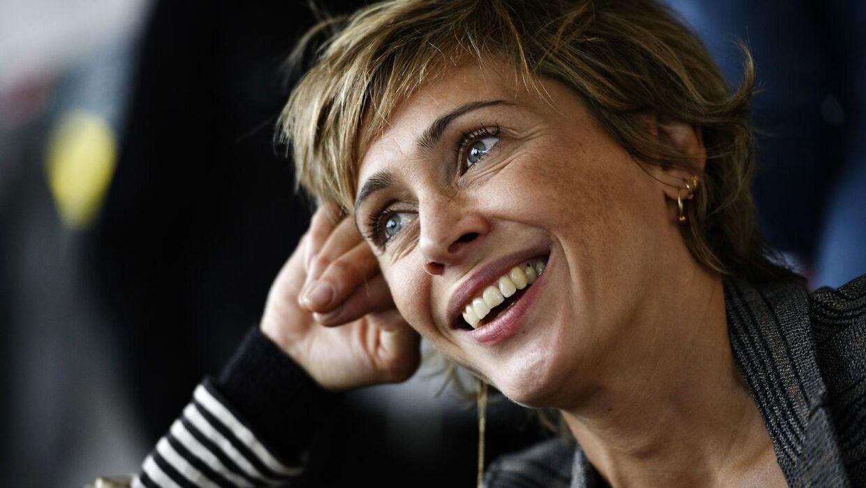 Laura Drasbæk ved pressemødet for den nye krimiserie 'Sommerdahl.' Den 45-årige skuespillerinde fortalte, at hun var glad hver morgen, hun gik på arbejde for at indspille den.